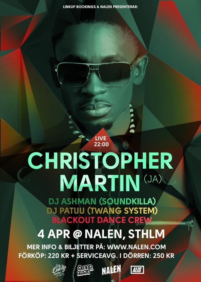 christopher martin blackout stockholm