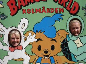 Jag och Helene på Kålmården som Lille Skutt och Skalman